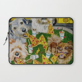 Canines Feast On New York Pizza Laptop Sleeve
