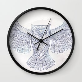 Ethnic Owl Wall Clock