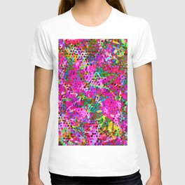 Floral Abstract Stained Glass G548 T-shirt
