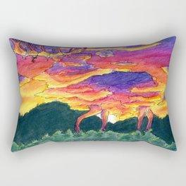The Elk Made of Clouds Rectangular Pillow