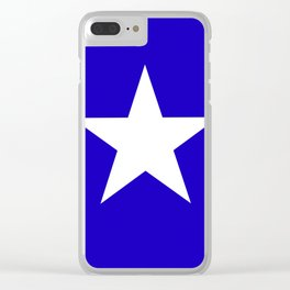 white star on blue background Clear iPhone Case