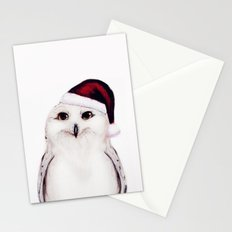 Snowy Christmas Owl  Stationery Cards