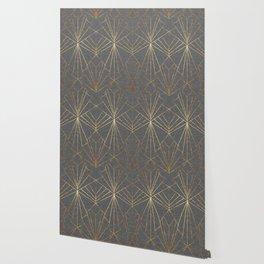 Art Deco in Gold & Grey Wallpaper