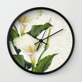 Beautiful Calla Lily #society6 #buyart #decor #lifestyle Wall Clock