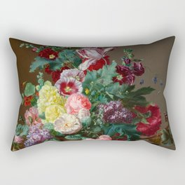 Vintage Floral Painting Rectangular Pillow