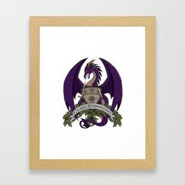 Clan Stonefire Crest - Purple Dragon Framed Art Print