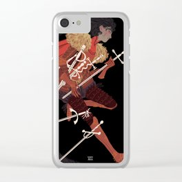 7 of Swords Clear iPhone Case