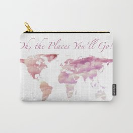 Cotton Candy Sky World Map - Oh, the Places You'll Go! Carry-All Pouch
