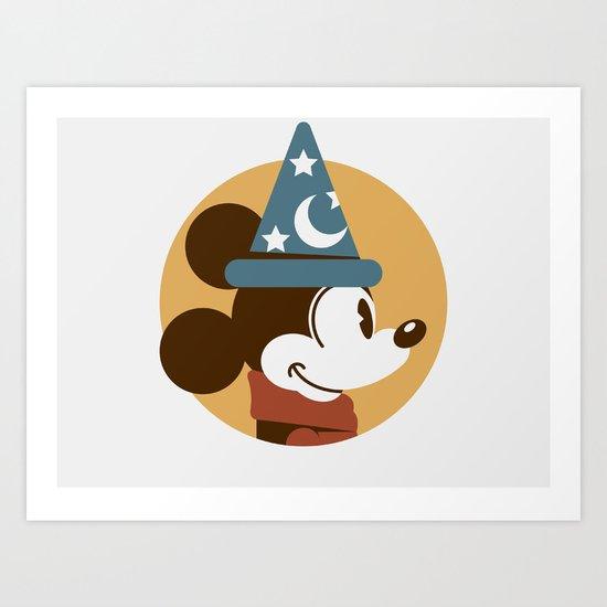Headgear - Sorcerer's Apprentice Mickey Art Print
