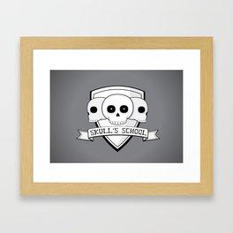 Skull's School Framed Art Print