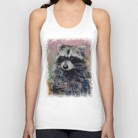 raccoon Tank Tops featuring Raccoon by Michael Creese