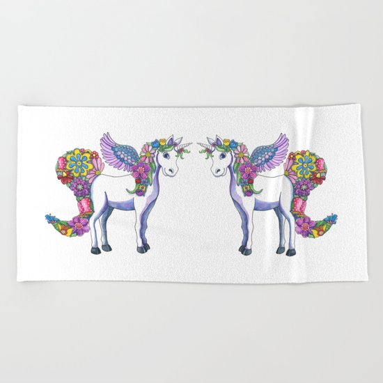 Madeline the Magic Unicorn Beach Towel