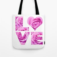 all you need is love Tote Bags featuring Love is all you need by LebensART