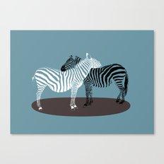 Zebra Embrace Canvas Print