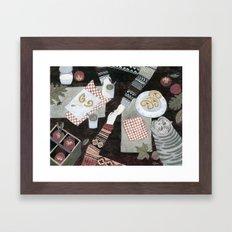 Fall Date Framed Art Print