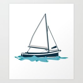 Feeling Nauti Sailor Or Ship Captain Gift Art Print