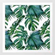Tropical Palm Leaves Classic Art Print
