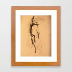 Shy Girl 1.0 Framed Art Print
