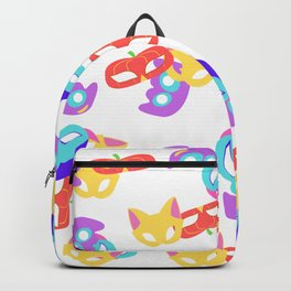 Halloween Masks Pattern with neon colors Backpack