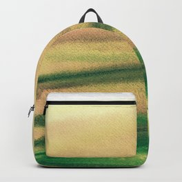 Abstract watercolor field Backpack