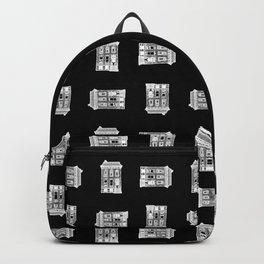 Haunted City House Halloween Backpack