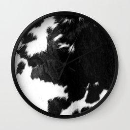 Modern Cowhide Wall Clock