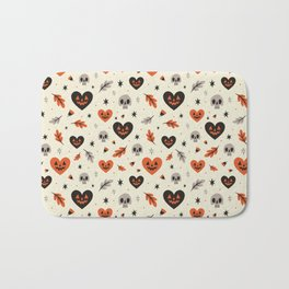 I Heart Fall Pattern Bath Mat
