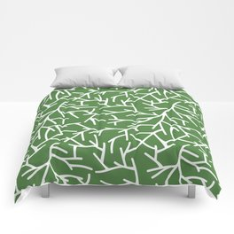Branches - green Comforters