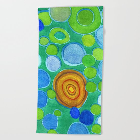 Stones under Water Beach Towel