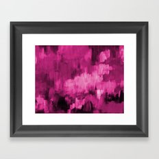 Paint 4 abstract minimal modern art painting canvas affordable art passion pink urban decor Framed Art Print