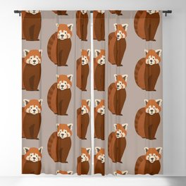 Whimsy Red Panda Blackout Curtain