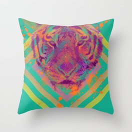 Tiger Bright Throw Pillow