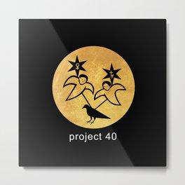 project 40 black Metal Print