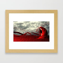 Red Wind Framed Art Print