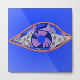 Marble eye blu Metal Print