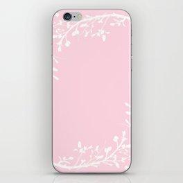 Floral Frame Pink iPhone Skin