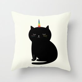 Caticorn Throw Pillow