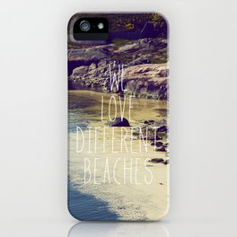 We love Different Beaches iPhone Case