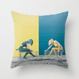 Y vs B Throw Pillow