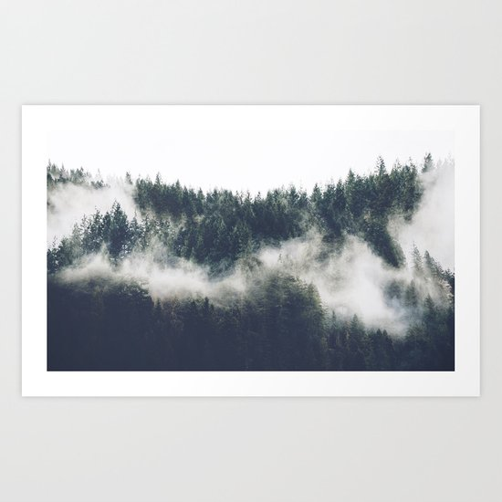 Abstract Forest Fog Art Print