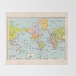 Old world map throw blankets society6 world map throw blanket gumiabroncs