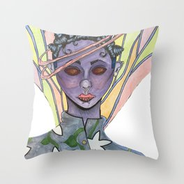 Fatiana the dragonfly fairy  Throw Pillow