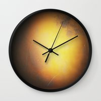 planet Wall Clocks featuring Planet by Daniela