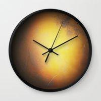 planet Wall Clocks featuring Planet by Daniela