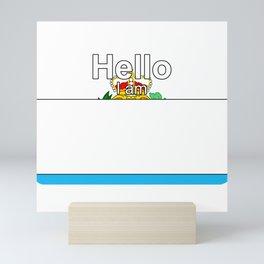 Hello I am from San Marino Mini Art Print