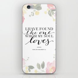 Song of Solomon 3:4 iPhone Skin