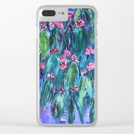 Rustic Flowering Gum Clear iPhone Case