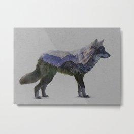 The Rocky Mountain Gray Wolf Metal Print