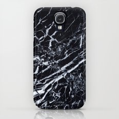Real Marble Black Galaxy S4 Slim Case