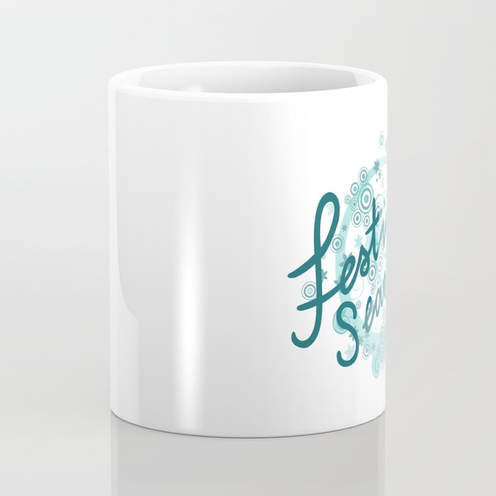 Festival Season Design Teals Coffee Mug